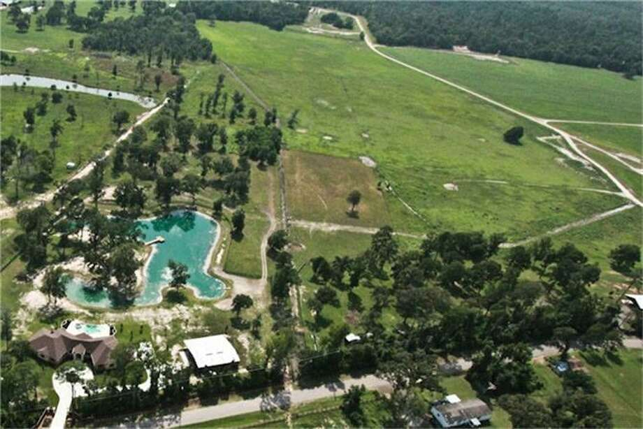 This is an aerial view of the property.