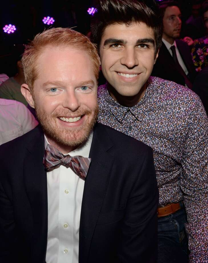 Actor Jesse Tyler Ferguson (L) and Justin Mikita attend the DoSomething.org and VH1's 2013 Do Something Awards at Avalon on July 31, 2013 in Hollywood, California.  (Photo by Michael Buckner/Getty Images for VH1) Photo: Michael Buckner, Getty Images For VH1