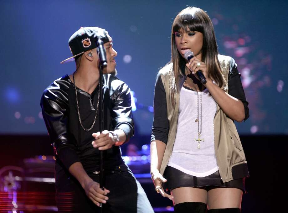 Recording Artists Jennifer Hudson (R) and J. Cole perform onstage at the DoSomething.org and VH1's 2013 Do Something Awards at Avalon on July 31, 2013 in Hollywood, California.  (Photo by Kevin Winter/Getty Images) Photo: Kevin Winter, Getty Images
