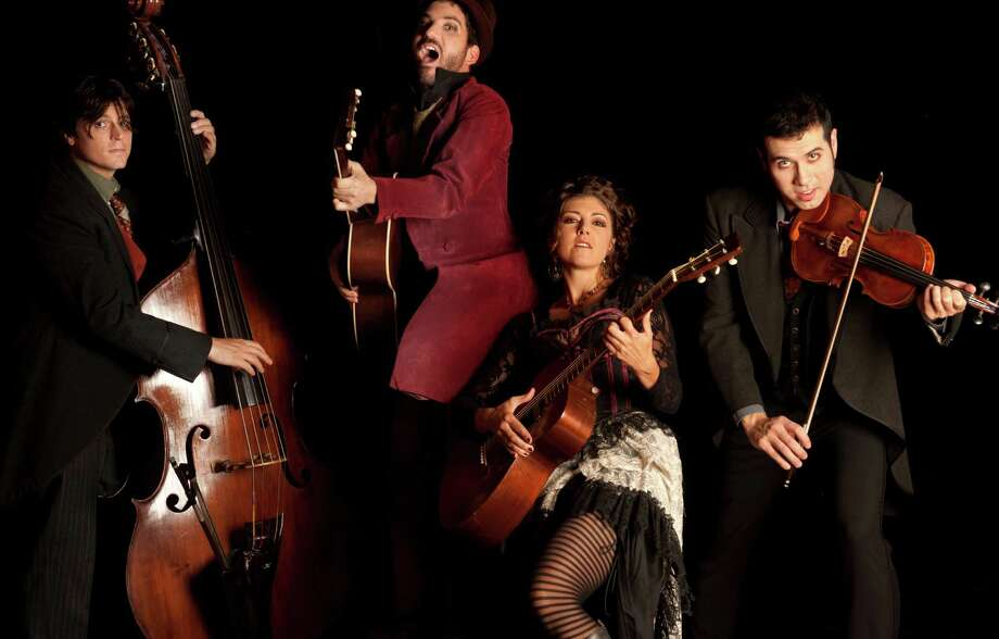 They'll steal your heart when the gypsy-swing band Caravan of Thieves takes the stage at the Levitt Pavilion Saturday at 8 p.m. Photo: Contributed Photo / Westport News