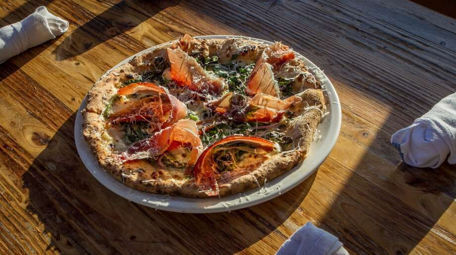 The Spinach Pizza at Forge 66 in Oakland, Calif., is seen on Wednesday, July 25th, 2013. Photo: Special To The Chronicle