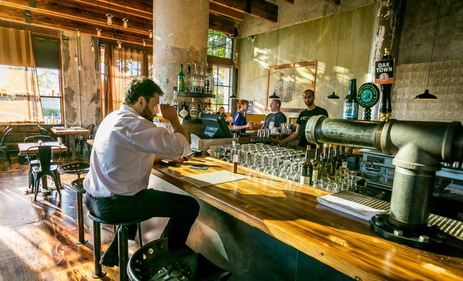 A man has a beer at the bar at Forge 66 in Oakland, Calif., on Wednesday, July 25th, 2013. Photo: Special To The Chronicle