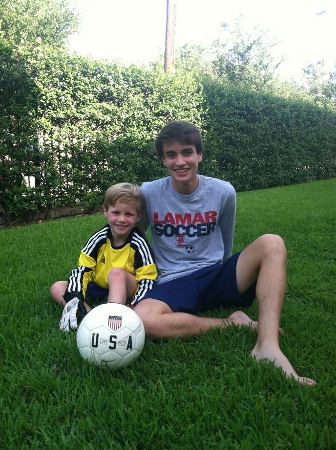 Joe Guerra with his younger brother, Alex. Photo: Contributed