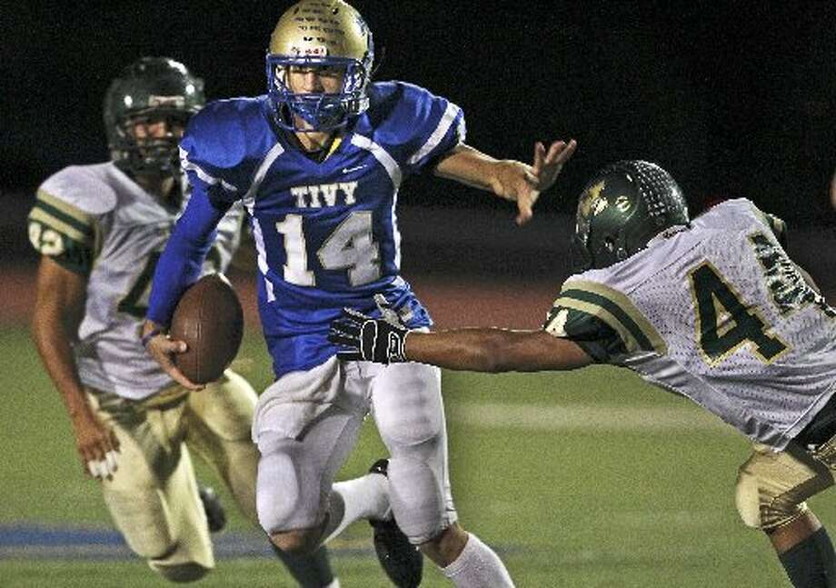 27-4A: Kerrville Tivy wide receiver Tyler Ahrens. Photo: E-N