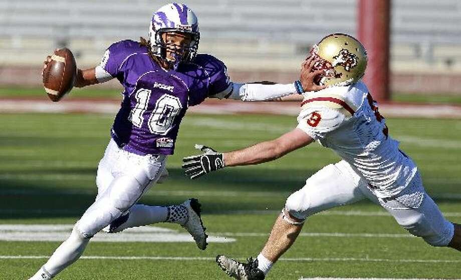 28-4A: Brackenridge quarterback Ramon Richards gained more than 3,000 all-purpose yards last season. Photo: E-N