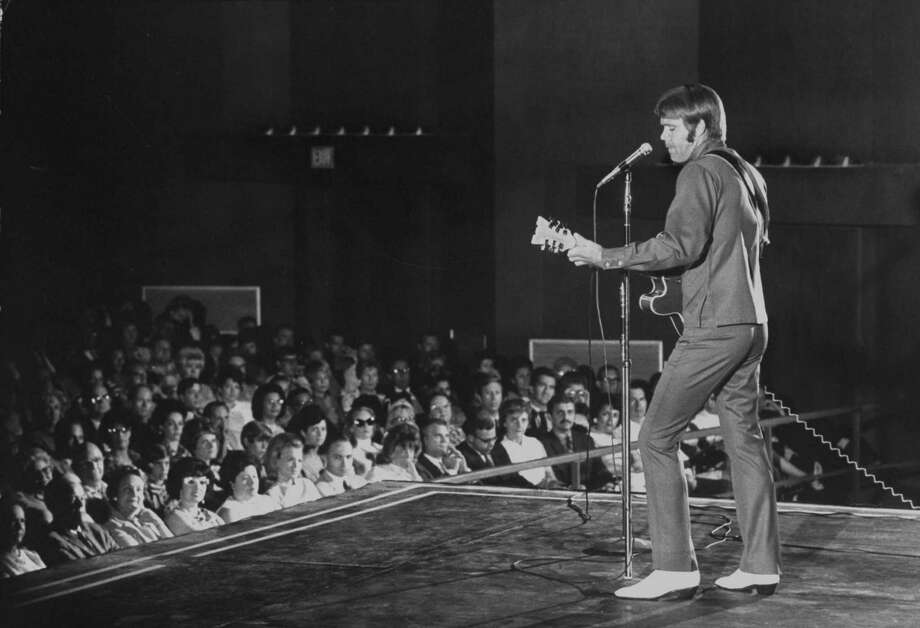 Singer Glen Campbell performs at HemisFair theater during HemisFair in August 1968. Photo: Ralph Crane, Time & Life Pictures / Getty Images / Time Life Pictures