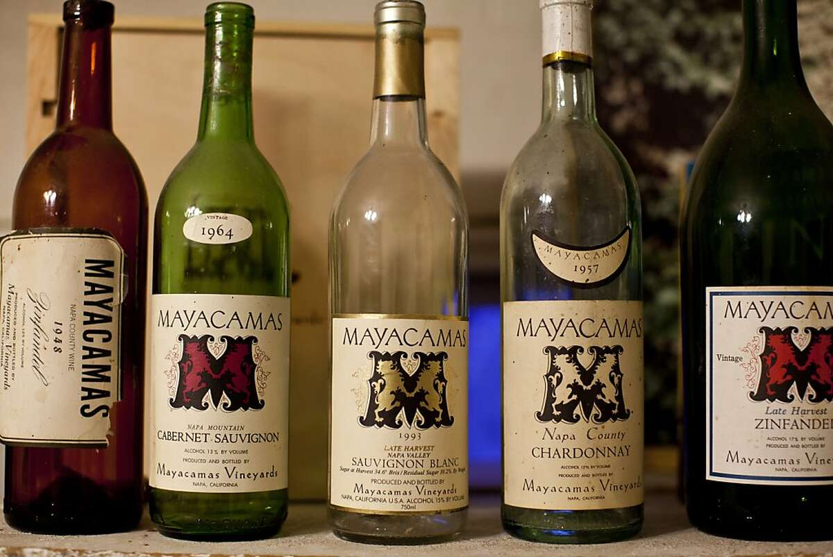 The library at Mayacamas Vineyards include bottles dating to the '50s on Mount Veeder.