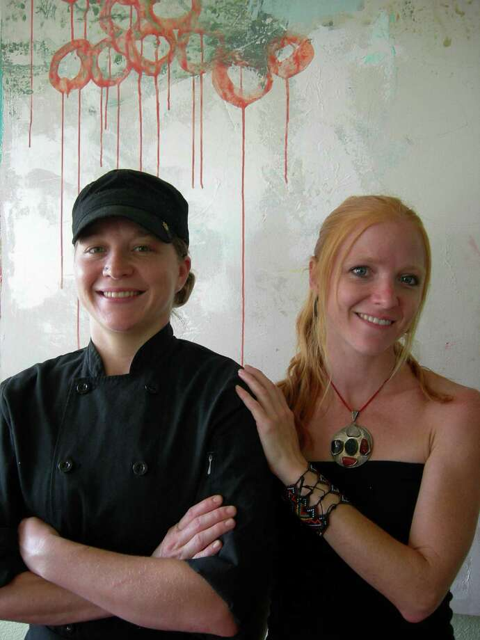 Chef Catherine New (left) and Melissa Polinard offer local, sustainable and organic lunch items at The Clean Plate.