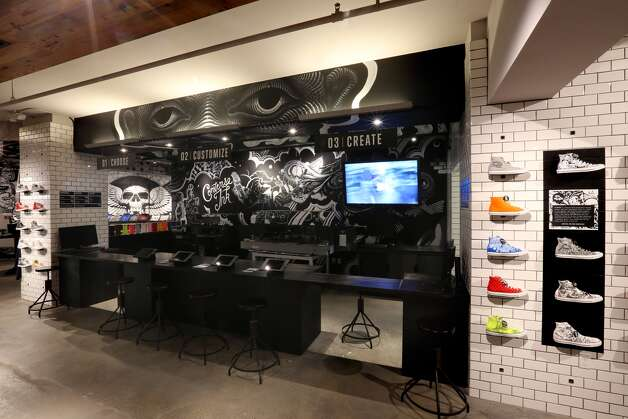 San Francisco  Converse: The sneaker company opened its largest store - 8,200 square feet - last month. In addition to an impressive array of specialty designs, visitors can create their own custom versions on the spot, thanks to industrial printers and a dizzying array of colored laces, grommets, studs and other embellishments. A gallery space on the second floor features rotating works from local artists and serves as a concert space. 838 Market St., (415) 433-1174. www.converse.com. Photo: Courtesy Converse
