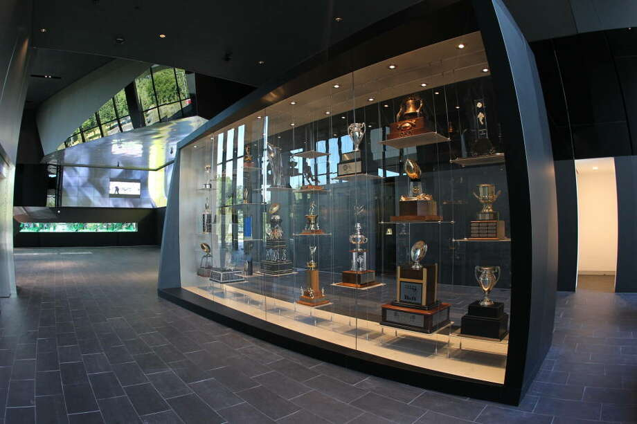 And of course there's a trophy display case. More trophies are sprinkled throughout the complex.  Photo: Eric Evans, GoDucks.com