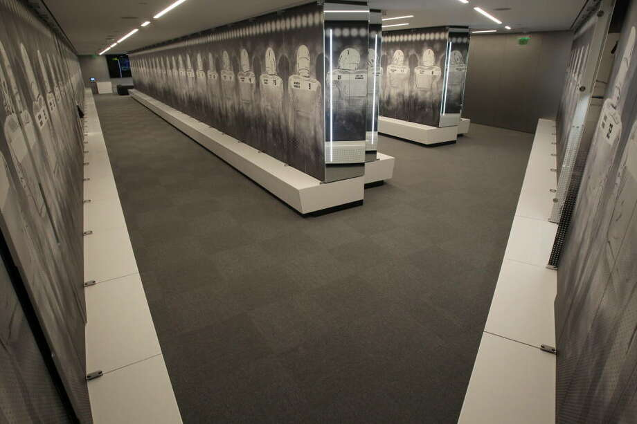 This doesn't look like any other locker room we've seen, but this is the Ducks' new locker room. Sports Illustrated reports that the lockers came from Germany and feature coded keypad locks.   Photo: Eric Evans, GoDucks.com