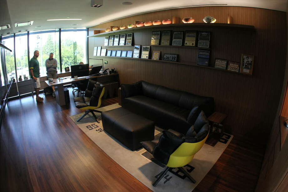 Here's one of the assistant coaches' offices. Not too shabby.  Photo: Eric Evans, GoDucks.com