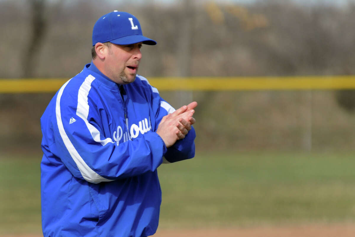 Fairfield Ludlowe Head Coach Keith O'Rourke during a baseball scrimage against Fairfield Prep in Fairfield. Conn. on Wednesday March 30, 2011.