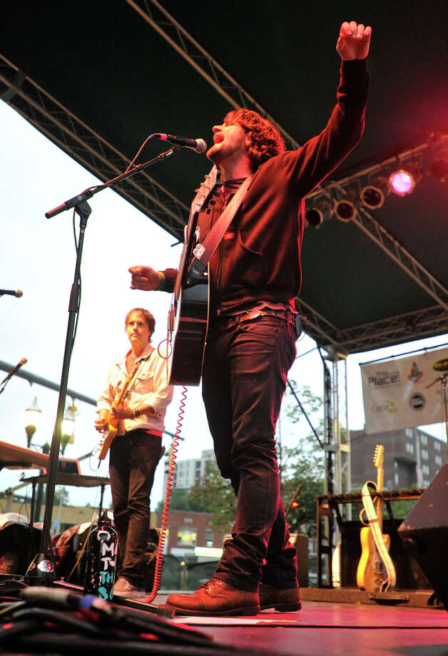 Matt Nathanson performs during the Alive@Five concert series at Columbus Park in Stamford on Thursday, Aug. 1, 2013. The Advocate newspaper is a sponsor of the event. Photo: Jason Rearick / Stamford Advocate