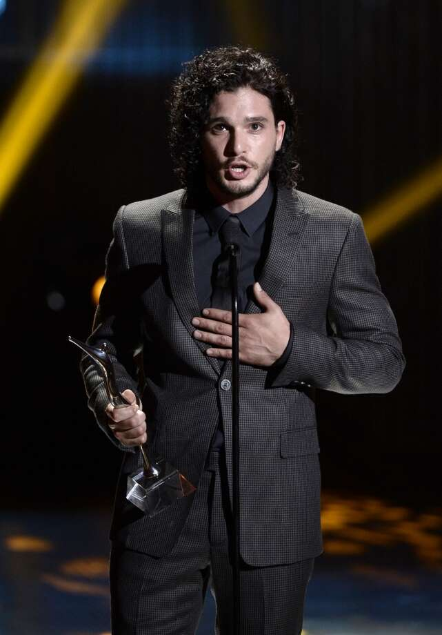 Actor Kit Harington receives the Actor of the Year Award  onstage during CW Network's 2013 Young Hollywood Awards presented by Crest 3D White and SodaStream held at The Broad Stage on August 1, 2013 in Santa Monica, California.  (Photo by Kevin Winter/Getty Images for PMC) Photo: Kevin Winter