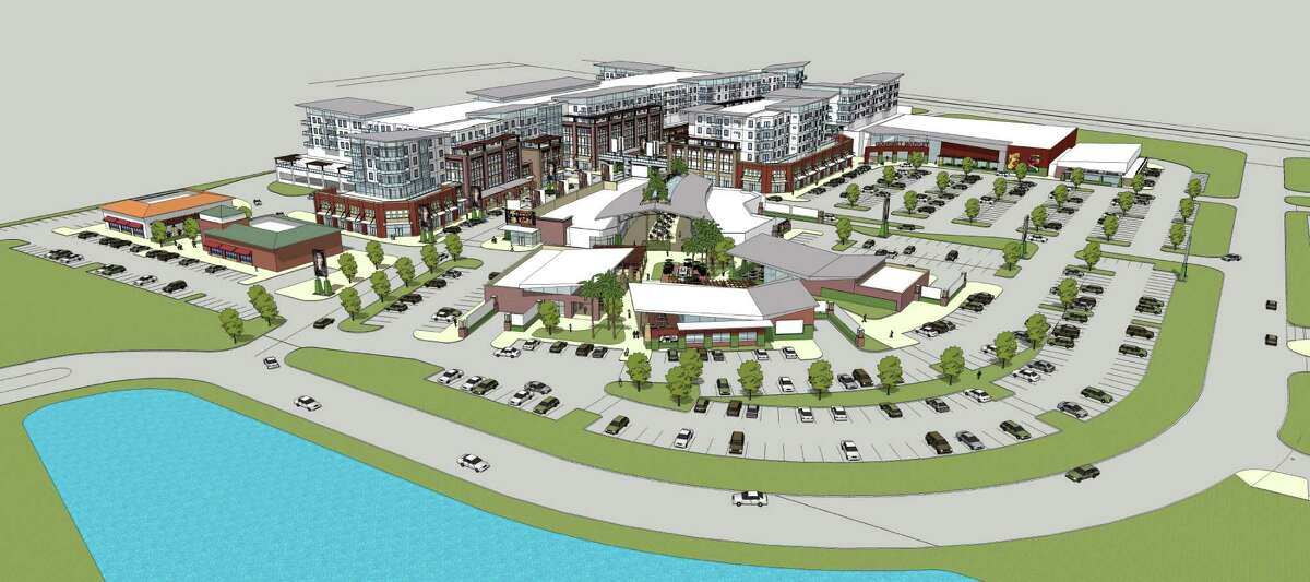 Kingwood Parc Artist rendering of proposed Kingwood town center at the northeast corner of Kingwood Drive and U.S. 59