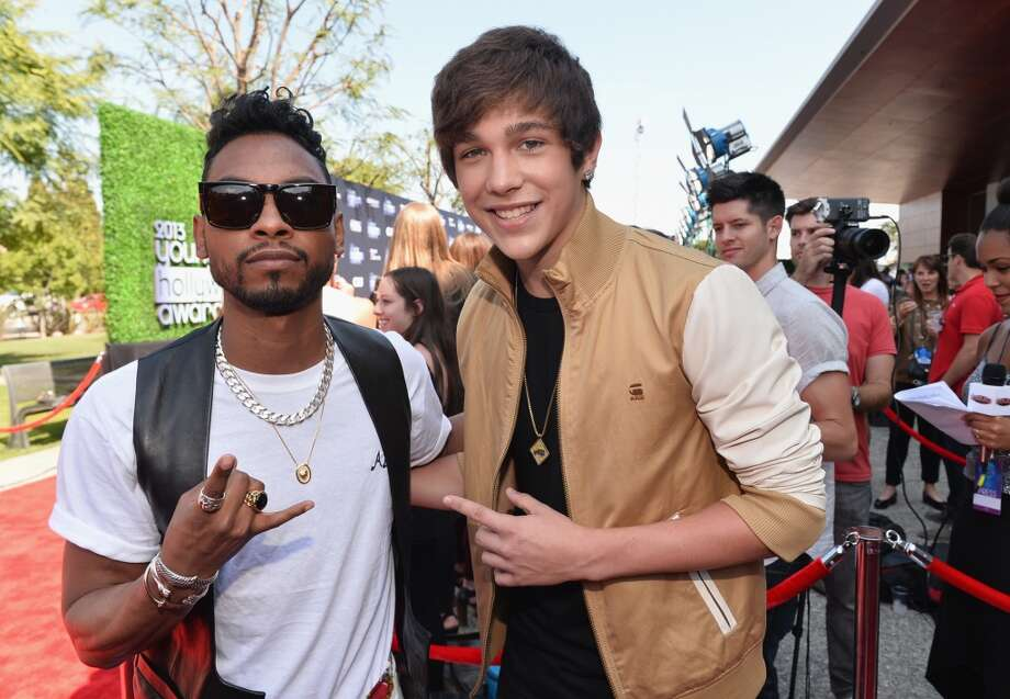 Musicians Miguel and Austin Mahone attend CW Network's 2013 Young Hollywood Awards presented by Crest 3D White and SodaStream held at The Broad Stage on August 1, 2013 in Santa Monica, California.  (Photo by Alberto E. Rodriguez/Getty Images for PMC) Photo: Alberto E. Rodriguez