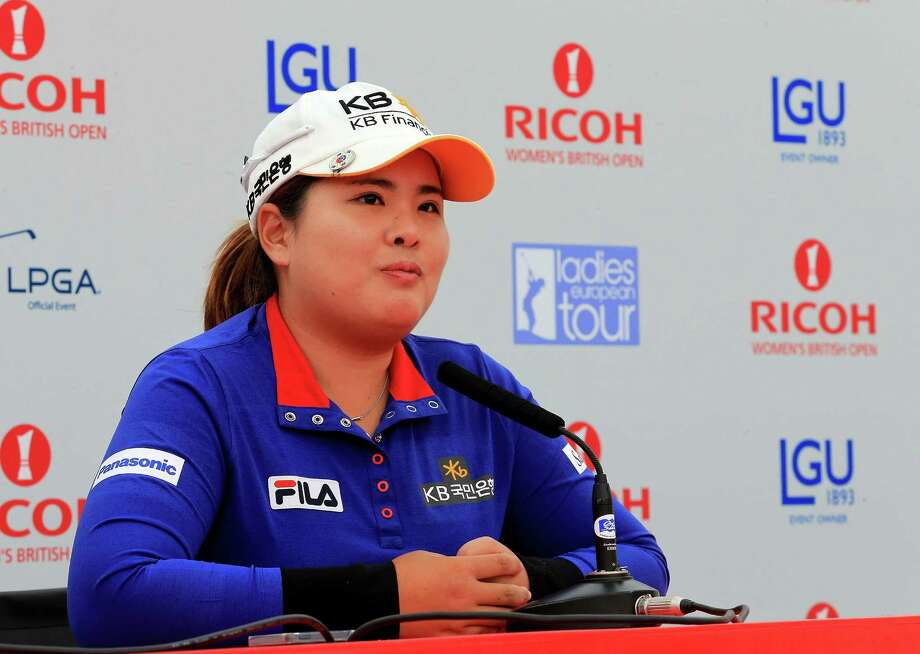 ST ANDREWS, SCOTLAND - JULY 30:  Inbee Park of South Korea talking to the media after she had played in the pro-am as a preview for the 2013 Ricoh Women's British Open on the Old Course at St Andrews on July 30, 2013 in St Andrews, Scotland.  (Photo by David Cannon/Getty Images) ORG XMIT: 174110417 Photo: David Cannon / 2013 Getty Images