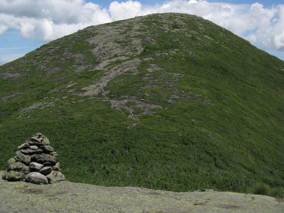 Photo by Herb Terns. The summit of Algonquin in the Adirondack High Peaks, as seen from Boundary.