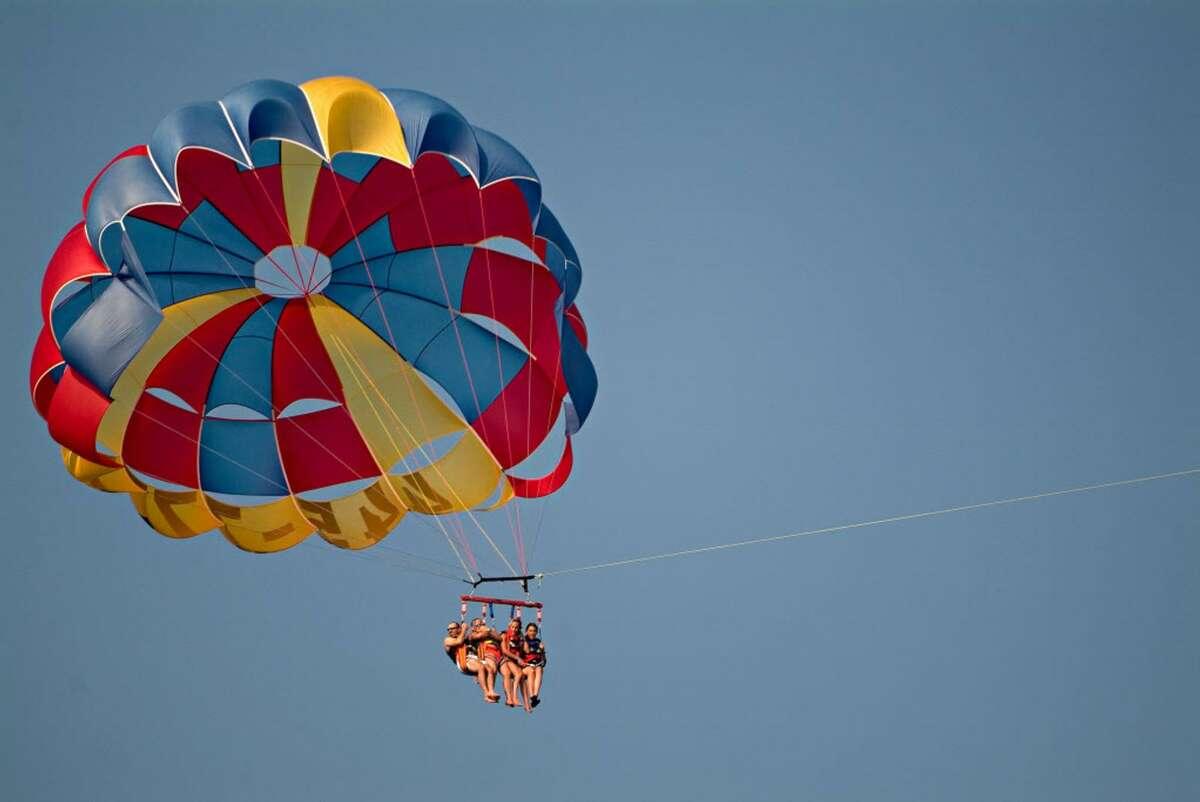 Parasailing in Myrtle Beach. (via VisitMyrtleBeach.com)