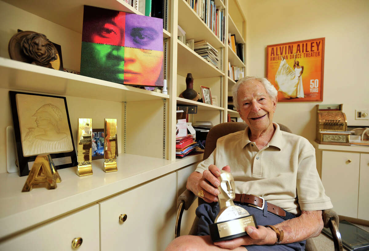 Harold Levine poses for a photograph in his Westport home on Monday, July 15, 2013. Levine was the chairman and founder of the advertising agency Levine, Huntley, Schmidt & Beaver.