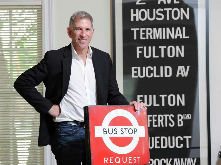 Former advertising executive, William Apfelbaum, chairman of Max Worldwide, at his office in Greenwich, Wednesday, July 17, 2013. Apfelbaum's specialty was transit ads, ads that ran in subway systems and on buses. Photo: Bob Luckey / Greenwich Time