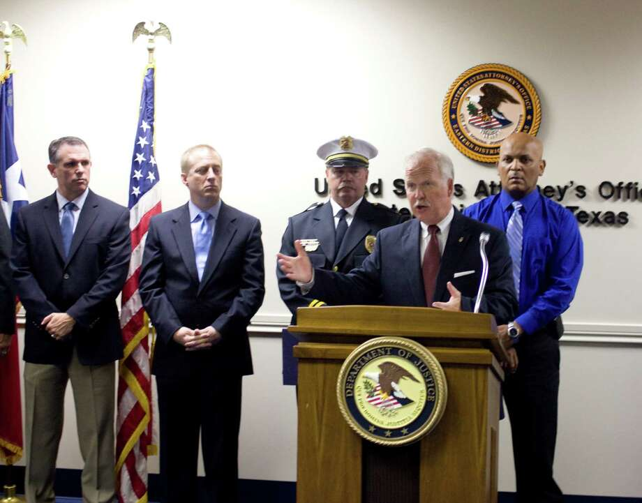U.S. Attorney John Bales announces the arrest and indictments of 23 people in a long-term federal drug operation.  One Beaumont man was indicted and arrested in the case, he said Friday. Photo: Tim Monzingo