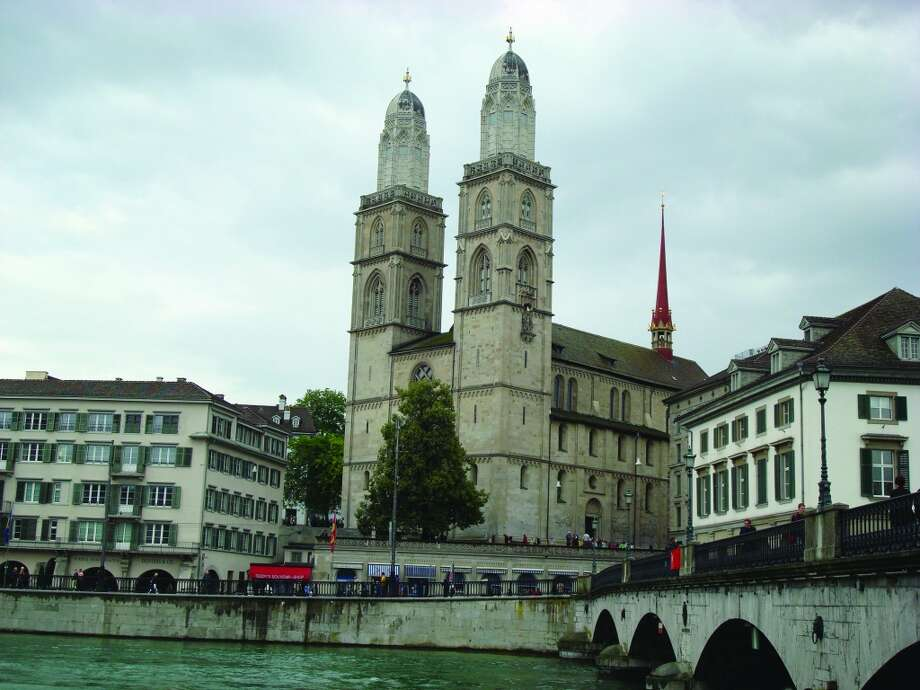 Construction of Grossmunster Church, a major landmark in Zurich, is said to have begun in the 12th Century. Photo: Sandy Rao, For The Express-News