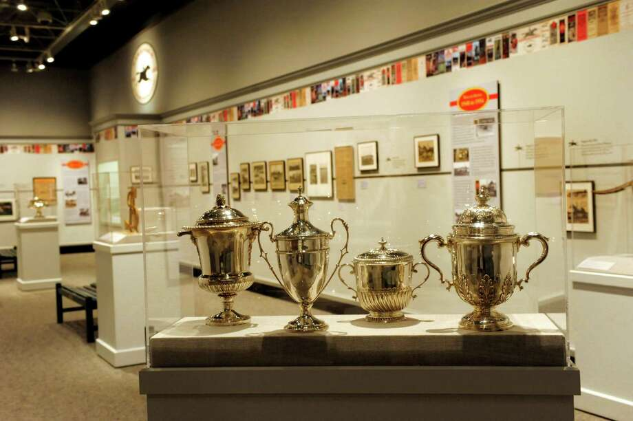 Exhibit features 150 years of history at the Saratoga Race Course Tuesday, July 30, 2013, at the National Museum of Racing and Hall of Fame in Saratoga Springs, N.Y. (Cindy Schultz / Times Union) Photo: Cindy Schultz / 00023326A