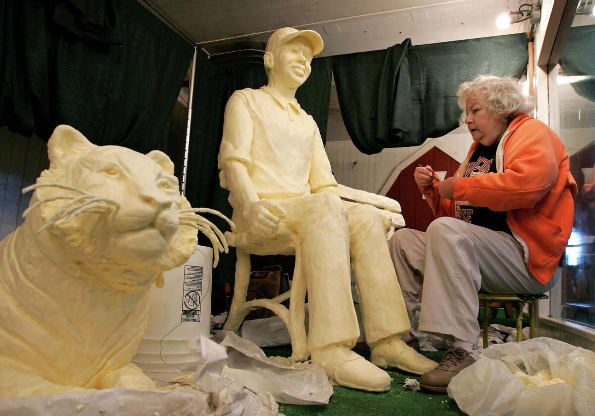 It's state fair season across much of the country and you know what that means: butter sculptures! Butter artists are hard at work in refrigerated rooms carving up statues for display. Let's take a look back.Above, 2005: Norma