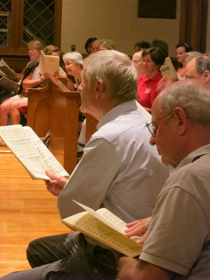 The Fairfield County Chorale's annual Summer Sings takes place every Monday night in August  2013 at Trinity Episcopal Church in Fairfield's Southport section. Photo: Contributed Photo