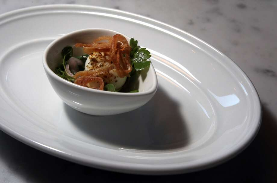 Quail egg mayonnaise, $2 ea. Photo: Lance Iversen, The Chronicle