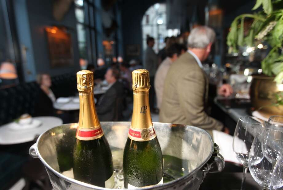 Iced sparkling wine awaits guests at the Cavalier. Photo: Lance Iversen, The Chronicle