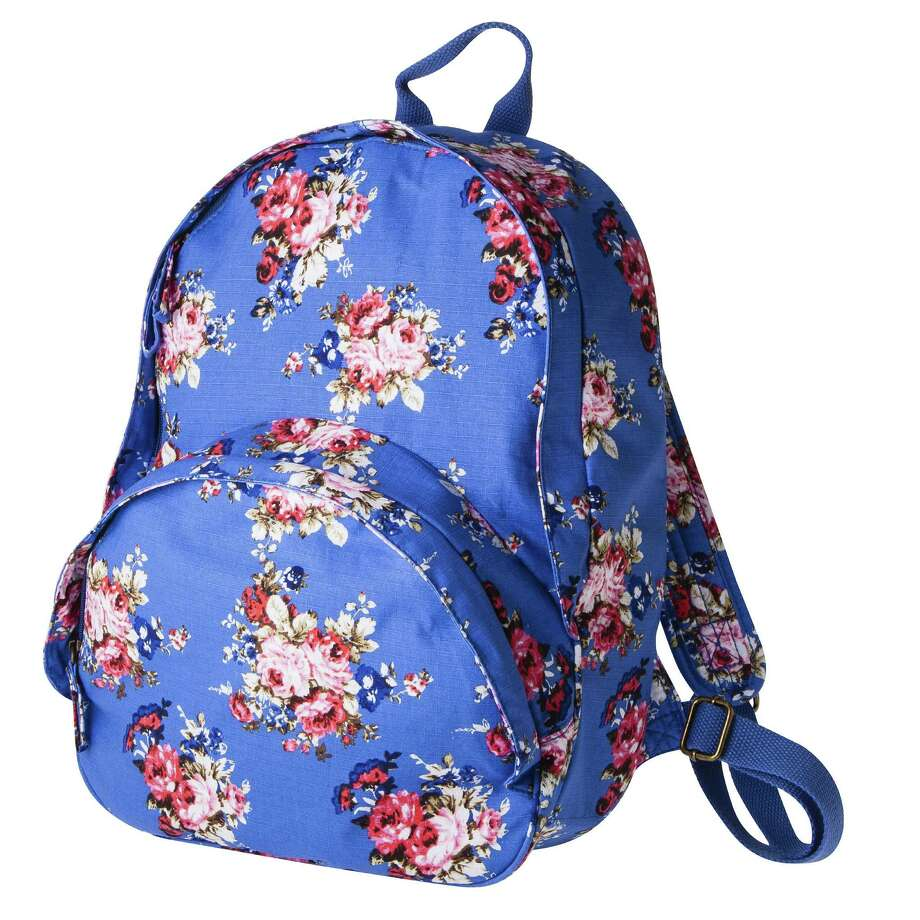 Mossimo cabbage rose print backpack, $29.99 at Target Target.com - February 2013 Photo: Mark.Williams