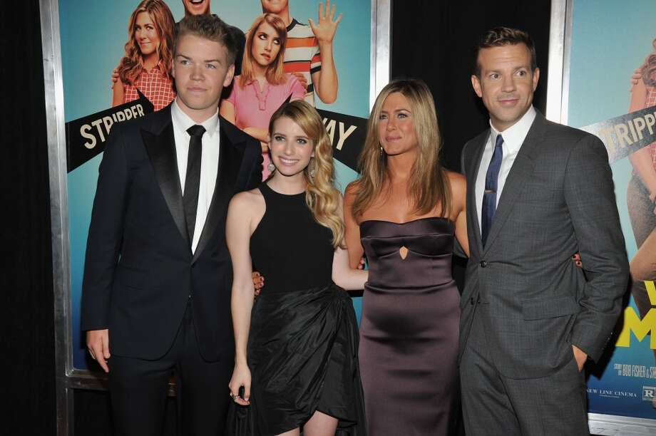 "(L-R) Actors Will Poulter, Emma Roberts, Jennifer Aniston and Jason Sudeikis attend the ""We're The Millers"" New York Premiere at Ziegfeld Theater on August 1, 2013 in New York City. Photo: Kevin Mazur, WireImage"