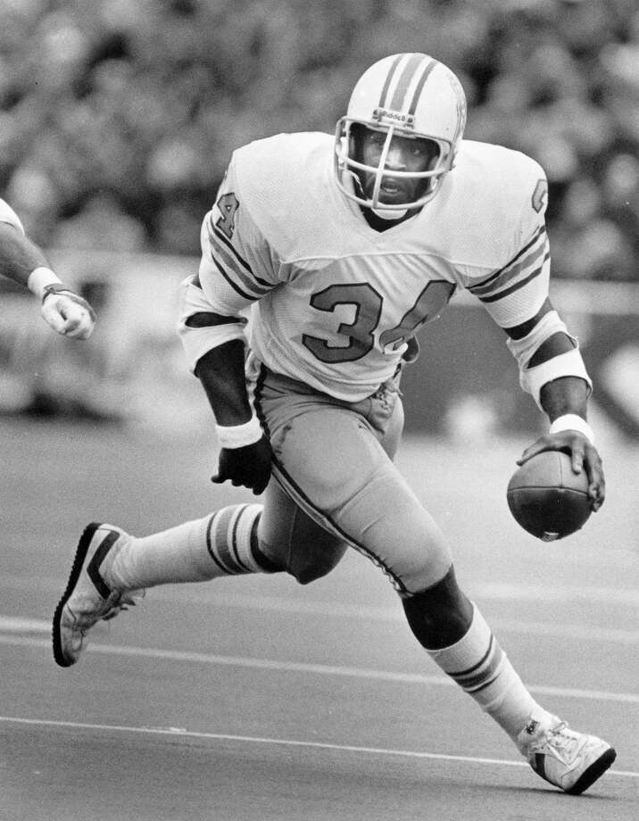 Earl Campbell Running back Time with the Oilers: 1978-1984 Year of HOF induction: 1991  The legendary running back racked up a litany of accolades while with the Oilers.  Photo: Chronicle File Photo