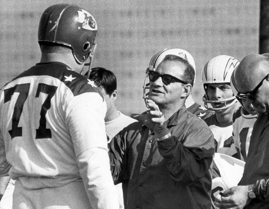 Sid GillmanHead coachTime with the Oilers: 1973-1974Year of HOF induction: 1983  Houston was the last stop of his coaching career.  Photo: Chronicle File Photo