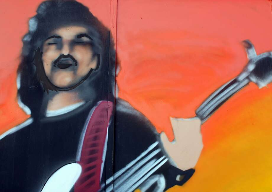 Star Val Mora is also depicted in the mural. Photo: Emily Bamforth, Express-News