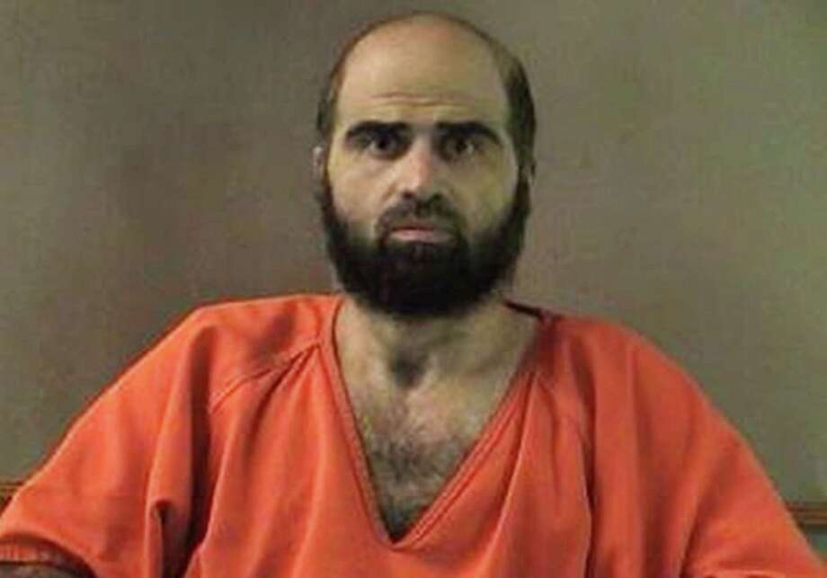 This undated file photo provided by the Bell County Sheriff's Department shows Nidal Hasan, the Army psychiatrist charged in the 2009 Fort Hood shooting rampage that left 13 dead.  Photo: Associated Press