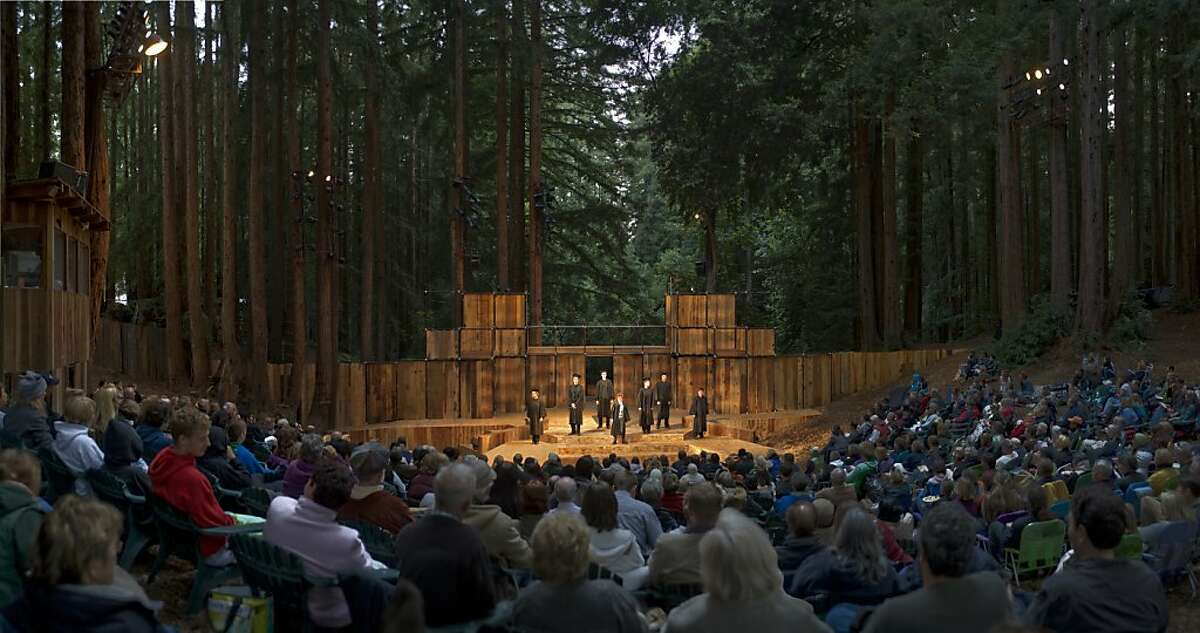 All three plays in Shakespeare Santa Cruz's 2013 Summer Season will be performed in the outdoor Sinsheimer-Stanley Festival Glen. SSC's 2010 production of Loves Labour's Lost.