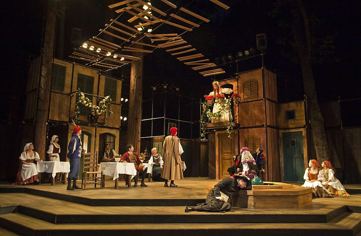 Kate (Gretchen Hall) waits for her husband-to-be in Shakespeare Santa Cruz's 2013 production of The Taming of the Shew. SSC's Summer Season will be playing at the Festival Glen from July 23 through September 1.