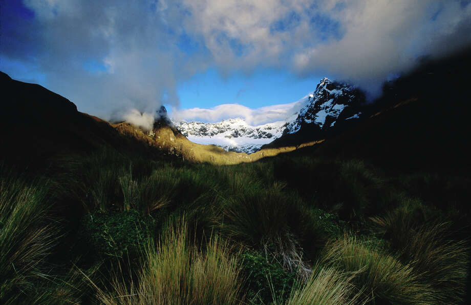 """Ecuador: Sangay National Park""""With its outstanding natural beauty and two active volcanoes, the park  illustrates the entire spectrum of ecosystems, ranging from tropical  rainforests to glaciers, with striking contrasts between the snowcapped  peaks and the forests of the plains. Its isolation has encouraged the  survival of indigenous species such as the mountain tapir and the Andean  condor."""" — UNESCO Photo: Aaron McCoy, Getty Images/Lonely Planet Images / Lonely Planet Images"""