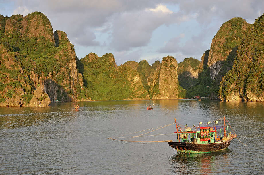 "Vietnam: Ha Long Bay""Ha Long Bay, in the Gulf of Tonkin, includes some 1,600 islands and 