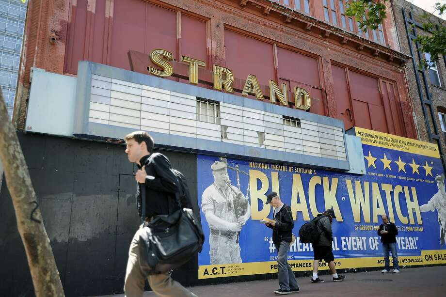 X is for The Strand, formerly one of the Tenderloin theaters showing XXX-rated films. Photo: Michael Short 2013, Special To The Chronicle
