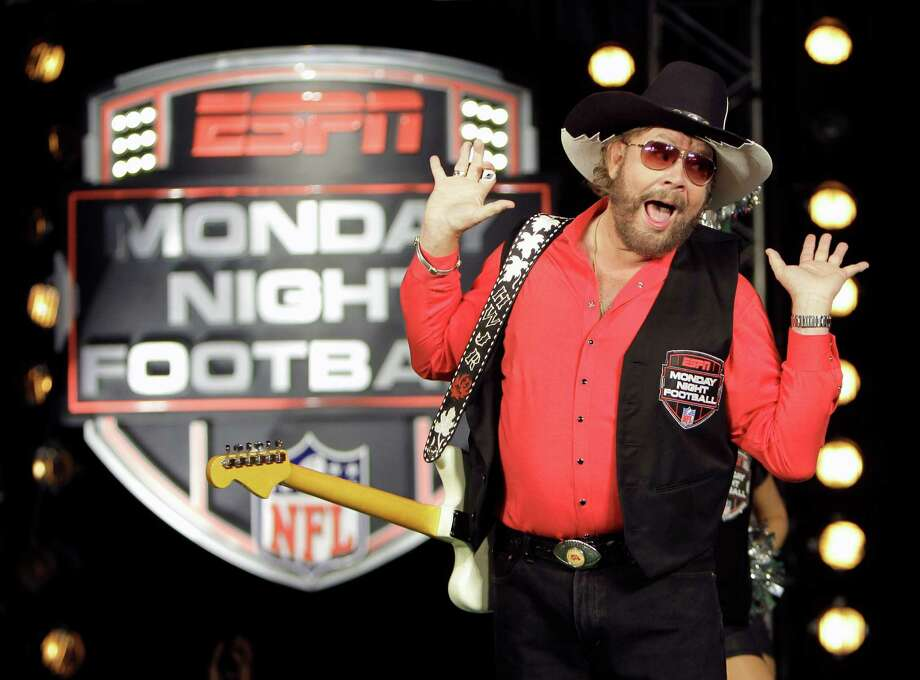 """In this July 14, 2011, file photo, Hank Williams Jr. performs during the recording of a promo for ESPN's broadcasts of """"Monday Night Football, """" in Winter Park, Fla. Photo: AP, STF / AP2011"""
