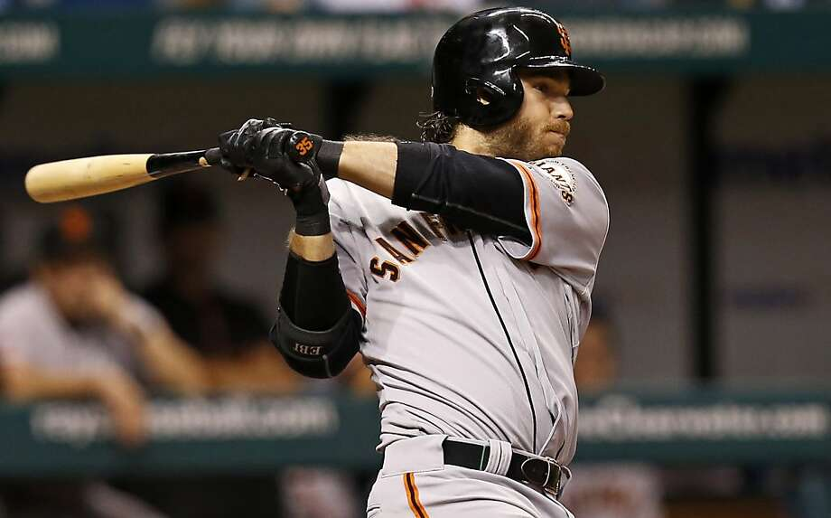 Brandon Crawford was hitting .288 in June when he sprained two fingers. He finished at .248 for the second straight year. Photo: Mike Carlson, Associated Press