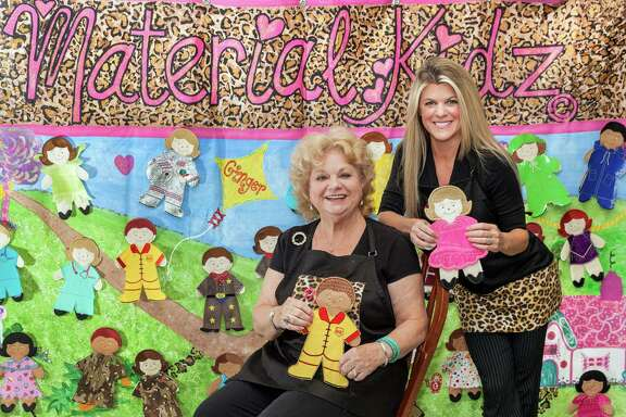 Donna Elliott, left, and her daughter Shannon Elliott-Ralph created Material Kidz in 2007 with a neighbor. The company makes sturdy oversized fabric dolls for young children.