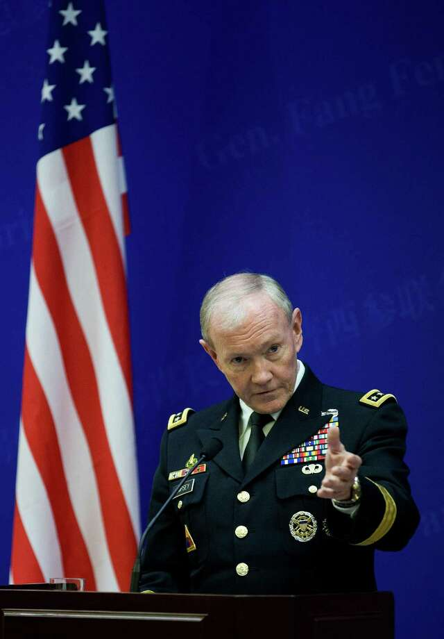 Gen. Martin Dempsey, chairman of the Joint Chiefs of Staff  Andy Wong/Getty Images Photo: ANDY WONG / WEA AFP