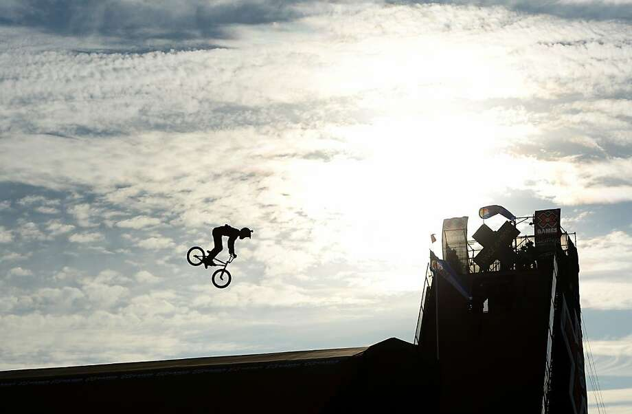 IRWINDALE, CA - AUGUST 02:  Vince Byron of Australia competes in the GoPro BMX Big Air Final during X Games Los Angeles at the Irwindale Event Center on August 2, 2013 in Irwindale, California.  Byron finished with a silver.  (Photo by Harry How/Getty Images) Photo: Harry How, Getty Images