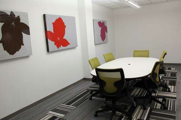 Credit: Boxer Property   Photo 1: A conference room in the Boxer Workstyle space at 2855 Mangum in the northwest Houston corridor. Tenants have access to shared amenities in the building.Credit: Boxer Property   Photo 1: A conference room in the Boxer Workstyle space at 2855 Mangum in the northwest Houston corridor. Tenants have access to shared amenities in the building.